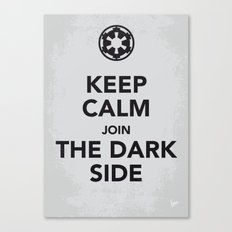 My Keep Calm Star - Galactic Empire - poster Wars Canvas Print