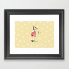 Little Horse Girl Framed Art Print