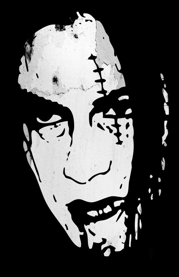Bloody Scar Face - Cool Horror Grungy T-Shirt Design Art ...