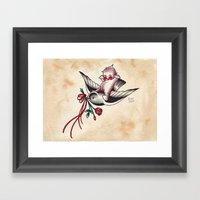 Kewpie On A Pigeon Framed Art Print
