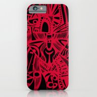 iPhone & iPod Case featuring INK#6 Red Mask by Bravo La Fourmi