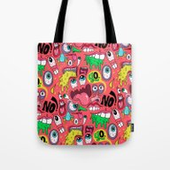 Tote Bag featuring Gross Pattern by Chris Piascik