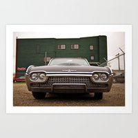 Ford Thunderbird closeup Art Print