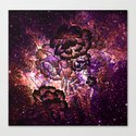 Magical Sunset Floral Abstract Canvas Print