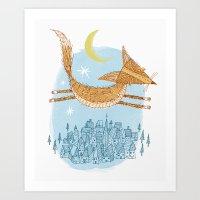 'Flying Fox' Art Print