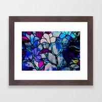 Painted Glass Framed Art Print
