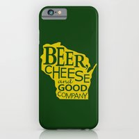 Green and Gold Beer, Cheese and Good Company Wisconsin iPhone 6 Slim Case