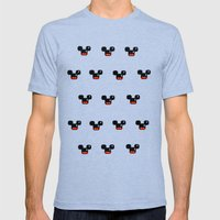 8 Bit Mouses  Mens Fitted Tee Tri-Blue SMALL
