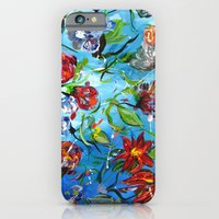 Blue Flower Swirl iPhone 6 Slim Case