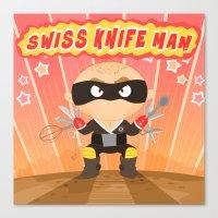 Swiss Knife Man Canvas Print
