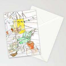 my back porch Stationery Cards