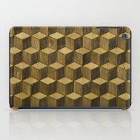Optical wood cubes iPad Case