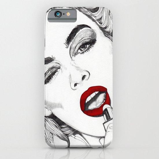 LIPSTICK GIRL iPhone & iPod Case