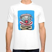 Clown With Small Adverti… Mens Fitted Tee White SMALL