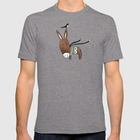 Happy Donkey Mens Fitted Tee Tri-Grey SMALL