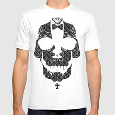 TML SKULLIFASHION SMALL Mens Fitted Tee White