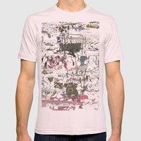take a breath [ABSTRACT]  Mens Fitted Tee Light Pink SMALL