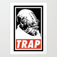 Obey Ackbar's TRAP Art Print