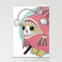 Aqua cat_Muka Stationery Cards