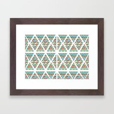 Aztec shapes Framed Art Print