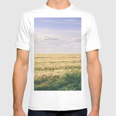 How far you can see? Mens Fitted Tee SMALL White