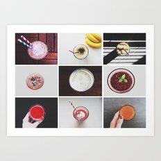 Morning stories - SMOOTHIE set Art Print