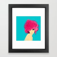 Fluro Framed Art Print