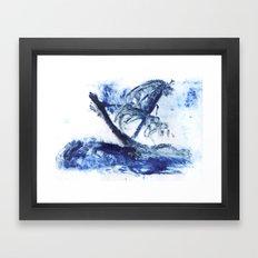 Ship on voyage Framed Art Print
