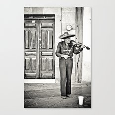 Mr. Violinist Canvas Print