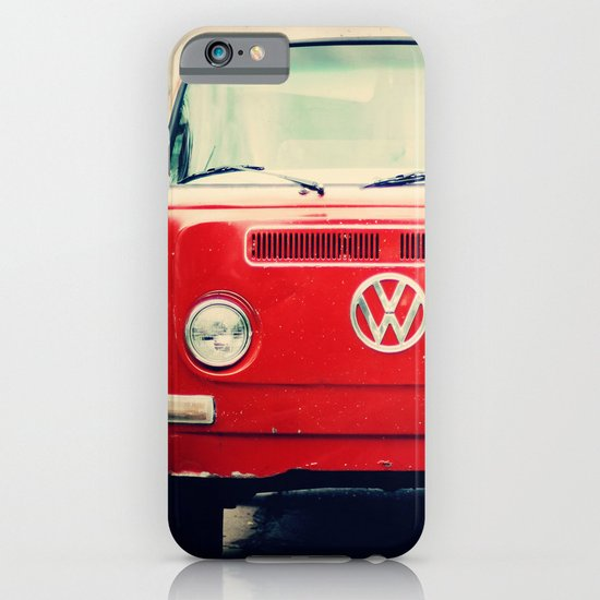 Red VW Bus iPhone & iPod Case