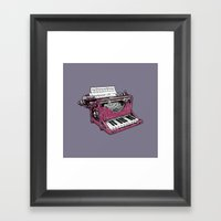 The Composition - P. Framed Art Print