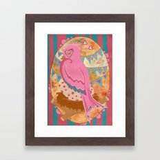 Mama bird Framed Art Print