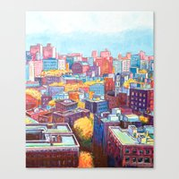 NYC Rooftops Remix Canvas Print