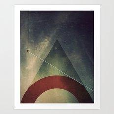 triangle half circle Art Print