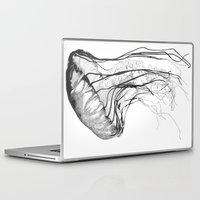 jellyfish Laptop & iPad Skins featuring Medusozoa by Edward Blake Edwards