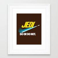 Brand Wars: Jedi - Blue … Framed Art Print