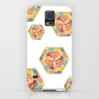 Galaxy S5 Cases featuring Abstract Geometric (Spirit) by Jay Gonzales