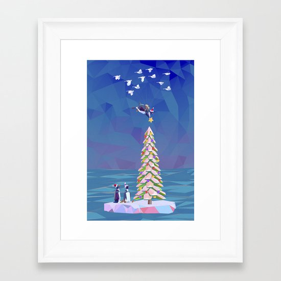 Christmas Flight Framed Art Print