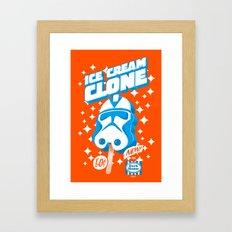 Ice Cream Clone Framed Art Print
