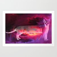 PINK KITTY Art Print