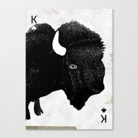 THE KING OF PRAIRIE Canvas Print