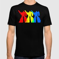 Optimus Prime Colors Mens Fitted Tee Black SMALL