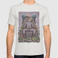 THE GHOST WHO SNACKS Mens Fitted Tee Silver SMALL
