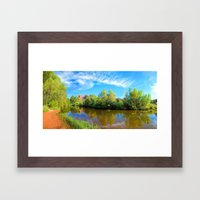 Red Rock Crossing Panora… Framed Art Print