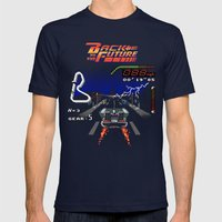 Back to the Videogame Mens Fitted Tee Navy SMALL