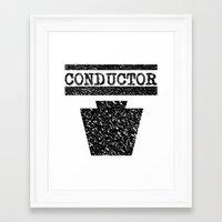 Conductor - Keystone Logo Framed Art Print