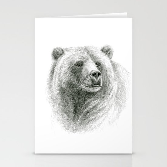 Grizzly Bear G2012-057 Stationery Card
