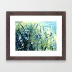 Forget me not flowers Framed Art Print