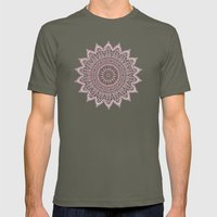 BOHEMIAN FLOWER MANDALA IN PINK Mens Fitted Tee Lieutenant SMALL