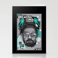 breaking bad Stationery Cards featuring Breaking Bad by Sophie Bland